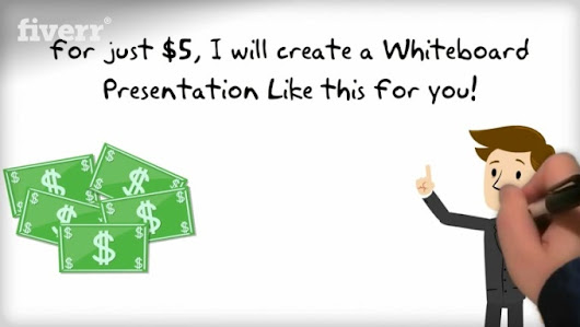 I will create a 20 seconds WHITEBOARD Explainer video presentation for $5