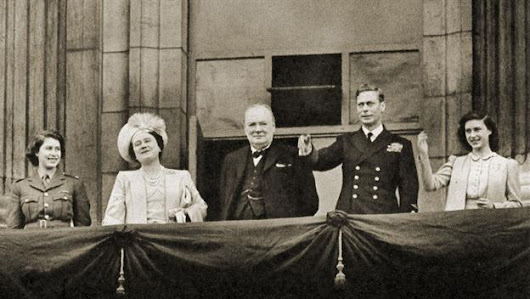 V-E Day is celebrated in America and Britain