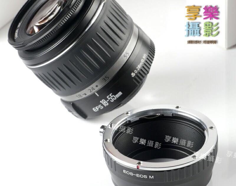 【刷卡購物享回饋】[享樂攝影] Canon EOS EF鏡頭轉接Canon EOS M 轉接環無限遠可合焦 再轉接超方便! EFM EOS-M網友開 ...