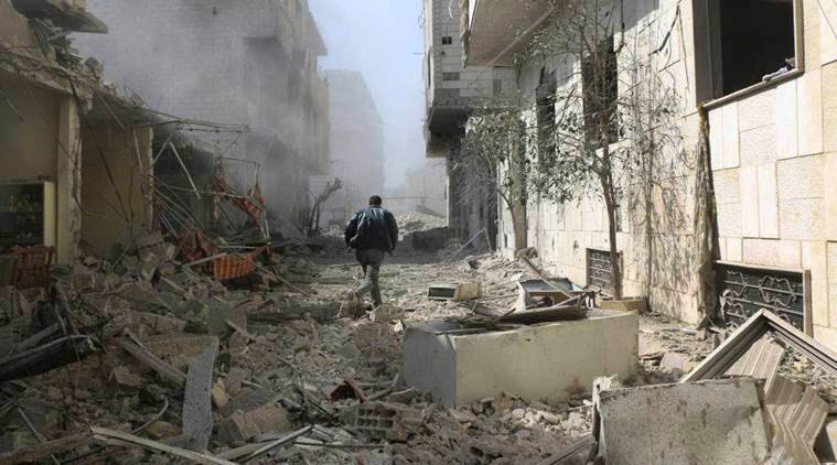 UN considers ceasefire resolution after air strikes hit Syria