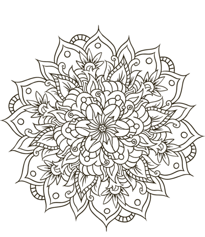 38 Blumen Mandala Ausmalbilder Besten