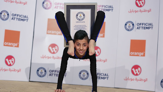 Video: 13-year-old Palestinian athlete dubbed 'Spider Boy' breaks contortion world record