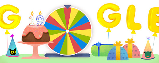 Google's 19th Birthday Surprise Spinner