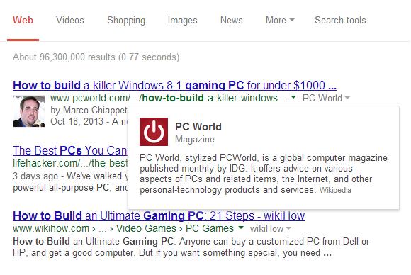 google search bio pcworld
