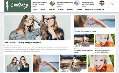 BTemplates: CoolBaby Fashion Free Version | Blogger Themes