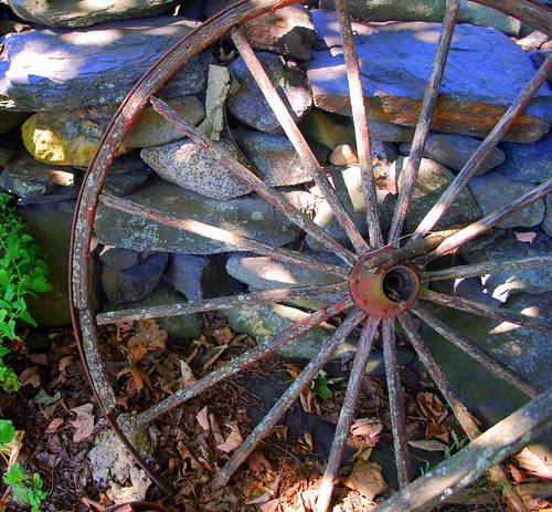 Watsons Farm rusty wheel