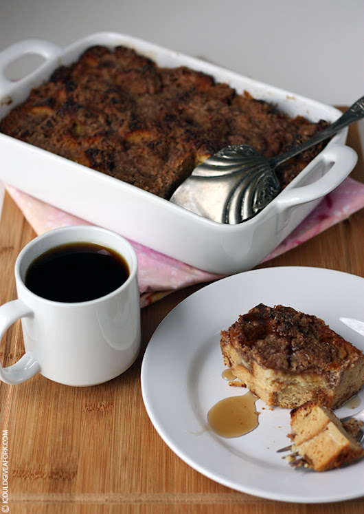 Gluten Free Cinnamon Baked French Toast - I Could Give A Fork