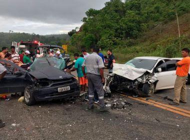 Itabela: Criança de 5 anos morre e três ficam feridos em batida frontal na BR-101