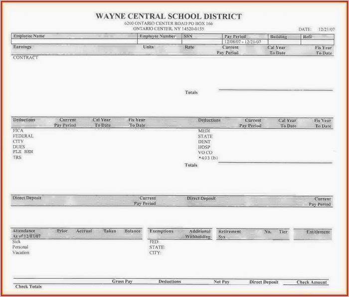 Blank Pay Stub Template Pdf - Template 1 : Resume Examples ...