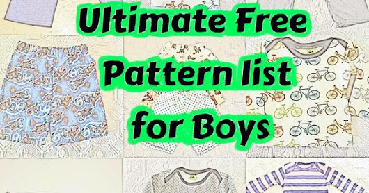 Sew Boy: Free Boy Patterns