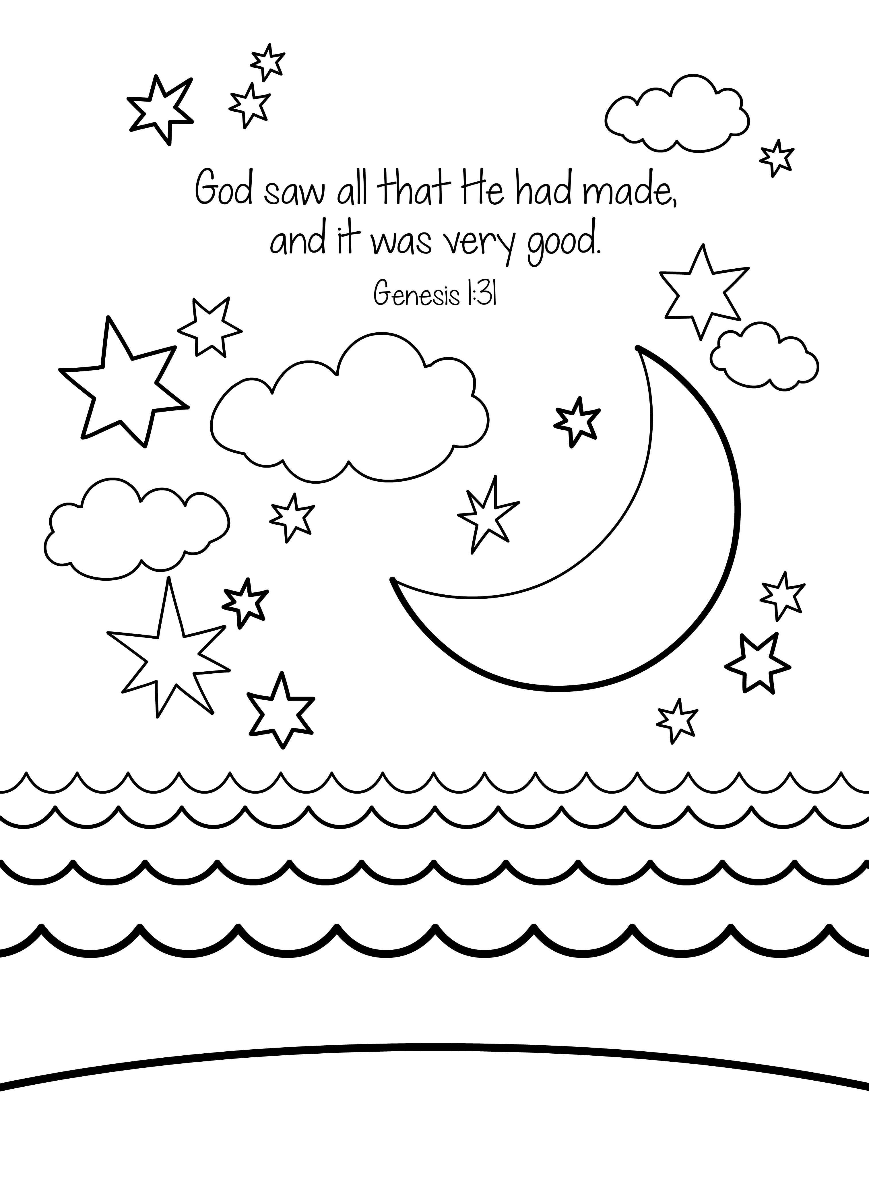 Bible Memory Verse Coloring Sheet | Creation | Free ...