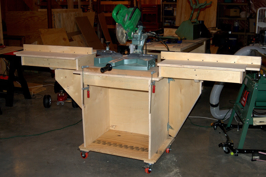 Rolling Miter Saw Stand By Steopa Lumberjocks Woodworking