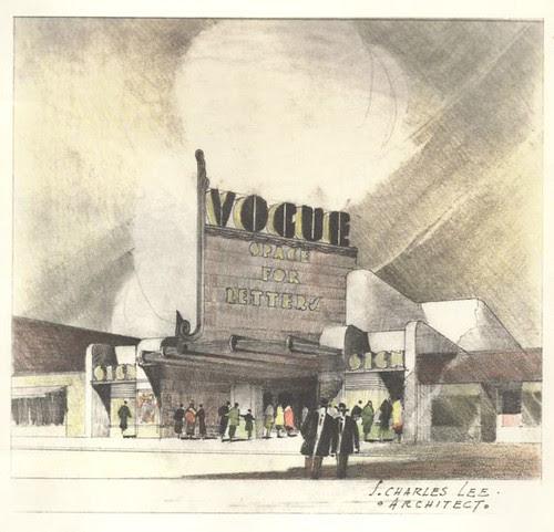 Fox Theatre, Redondo Beach design drawing