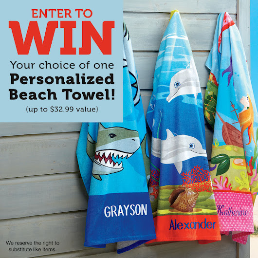 Personalized Beach Towel Giveaway!