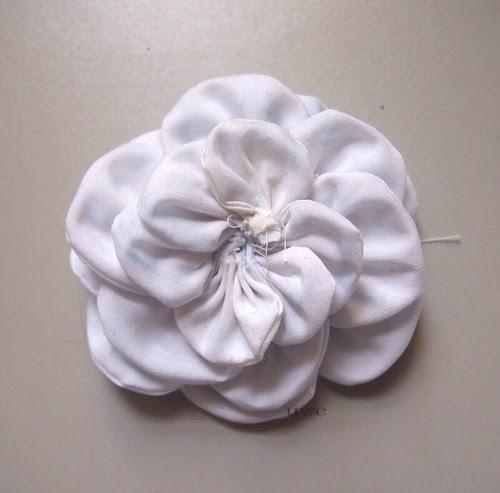 Fabric Flower Tutorial Step 8