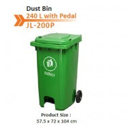 Dust Bin 240 L Green CN With Pedal