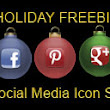 Free Social Media Holiday Icon Set New Pinterest and Google+ Icons