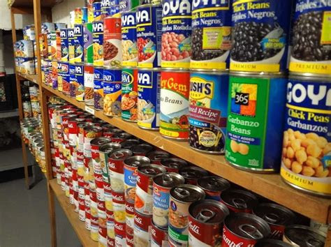 stock  emergency food pantry