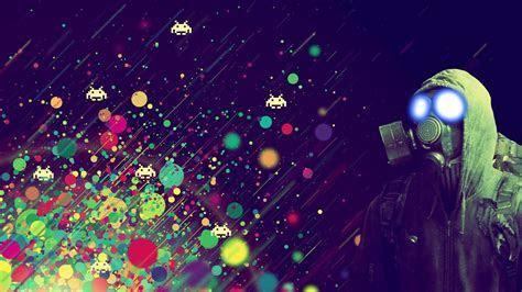 Spiele Gaming Gasmasken Licht Weltraum wallpaper