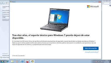Windows 7 dejó de tener soporte de Microsoft