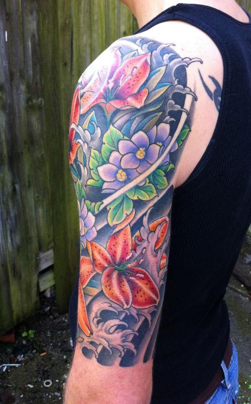 Pictures Of Half Sleeve Tattoos Color Rock Cafe