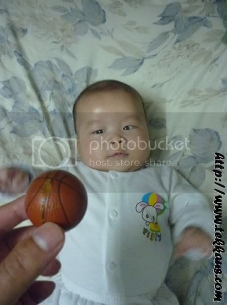 Little Jordan Learns How To Play Basketball