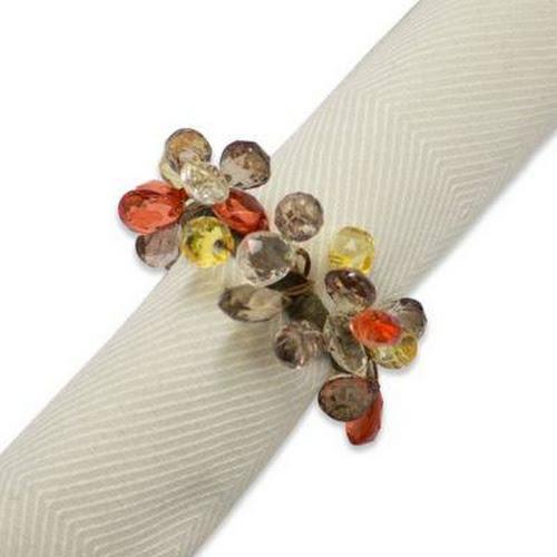 google express autumn sparkle napkin ring amber