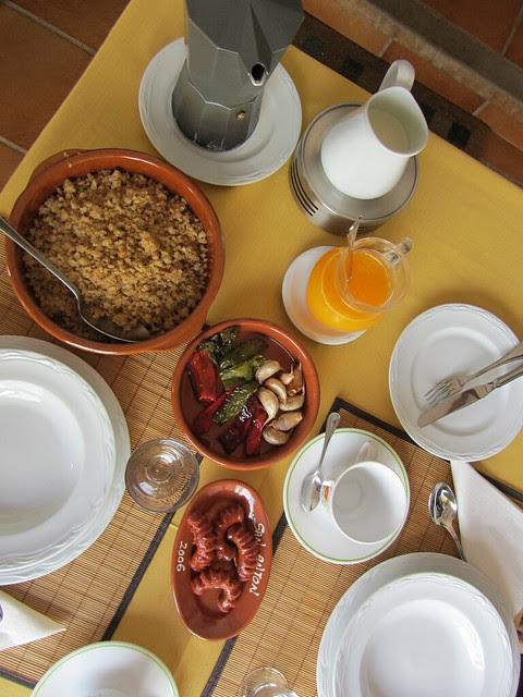 Desayuno con Migas de Extremadura