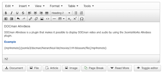 Embed DOCman videos using AllVideos - Joomlatools