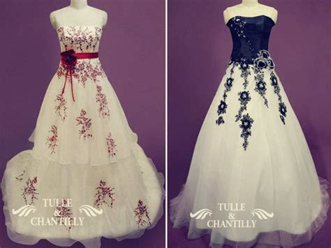 colored wedding dresses   Tulle & Chantilly Wedding Blog