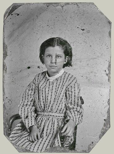 Tintype Girl in dress