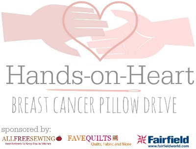 Hands-on-Heart Breast Cancer Pillow Drive
