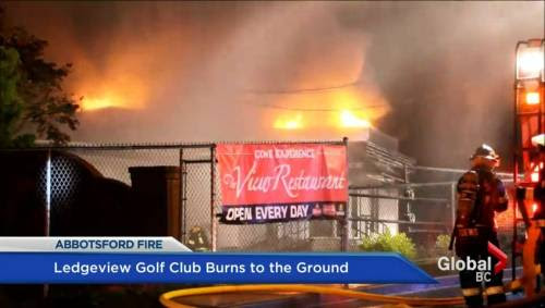 Fire claims Ledgeview Golf Club in Abbotsford | Watch News Videos Online