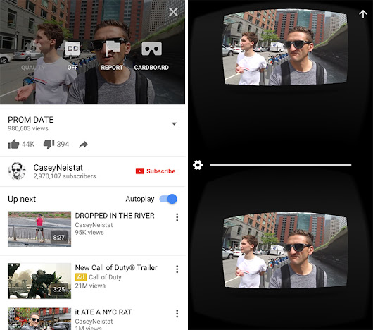 YouTube for iOS Now Supports Google Cardboard