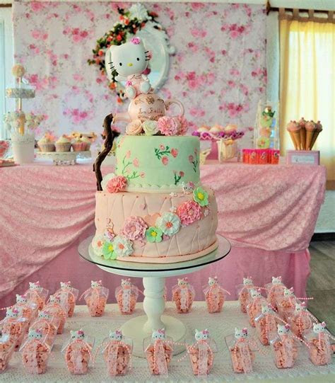 Vintage Chic Hello Kitty Party   Birthday Party Ideas & Themes