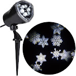 Holiday Lightshow projection: Ornate Snow Flurry (White)