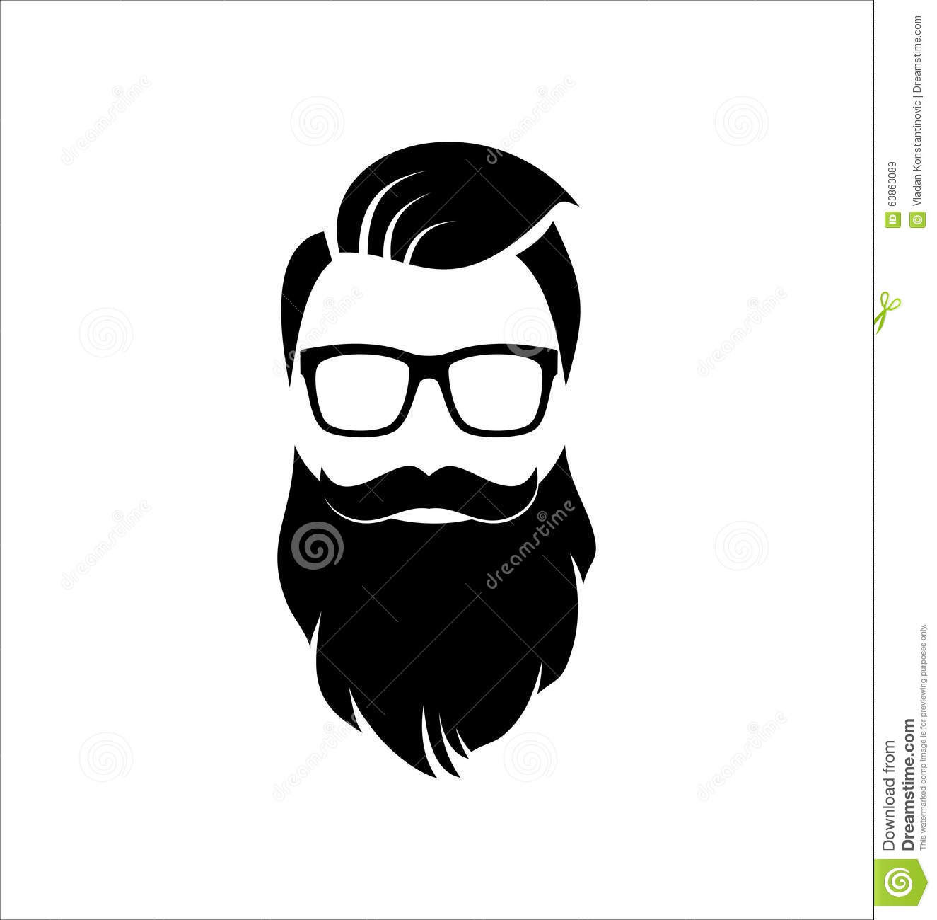 hipster black white hairstyle beard 63863089