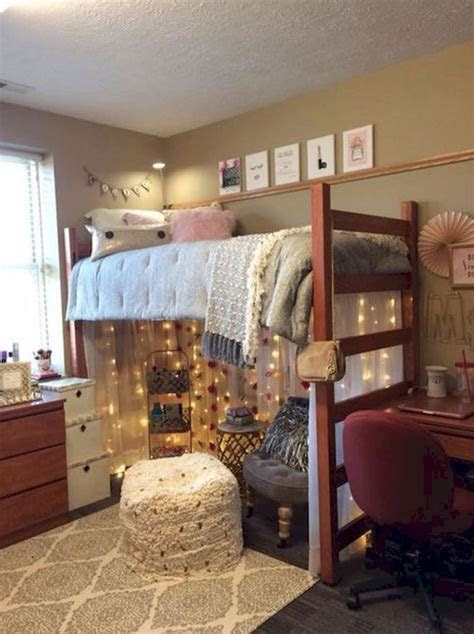 cute loft beds college dorm room design ideas
