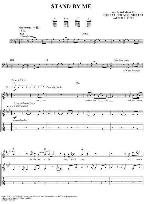 Stand By Me   guitar   Pinterest   Sheet music, Digital