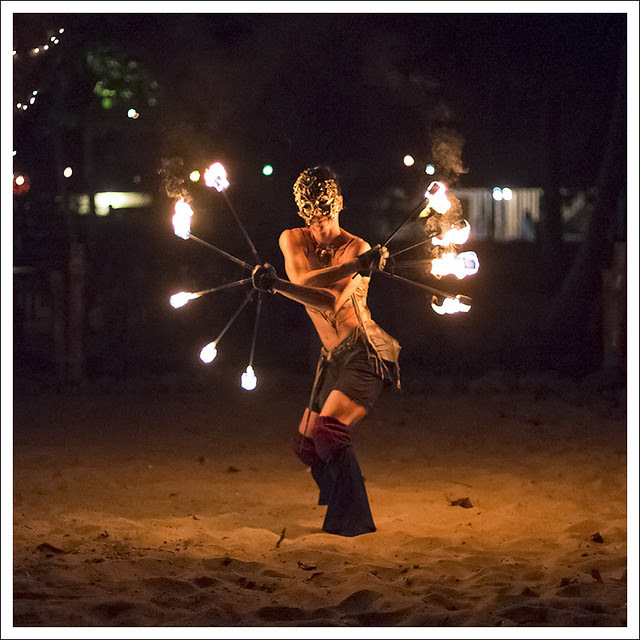 Fire Dancers At Nibbana 5 square
