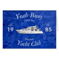 Yacht Club Yeah Buoy Greeting Card