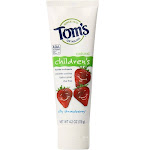 Tom's of Maine Natural Children's Fluoride Toothpaste, Silly Strawberry - 4.2 oz tube