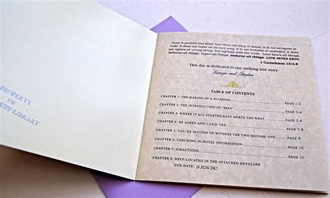 Vintage Book Style Invitations for a Literary Themed