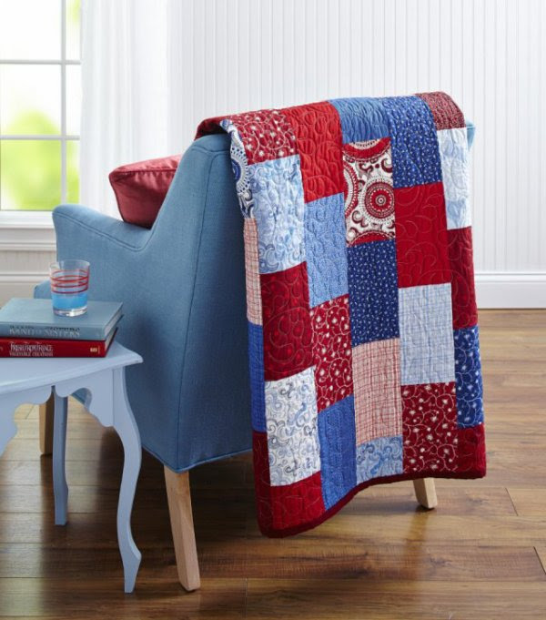 Red White And Blue Bricks Allpeoplequiltcom