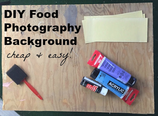 DIY Food Photography Background for Instagram - Cooking By Laptop