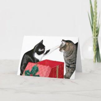 Christmas jealousy greeting card