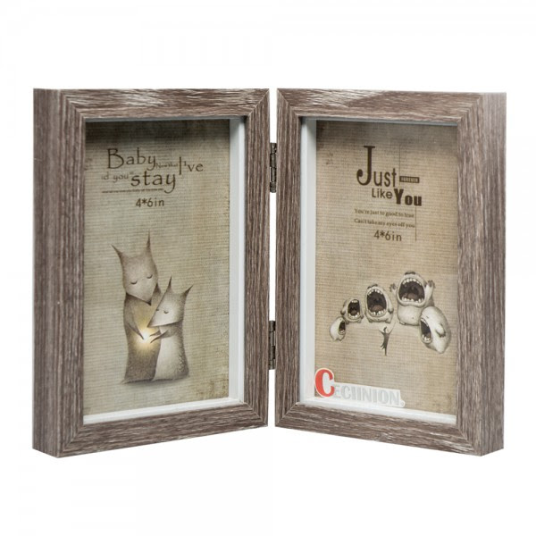 Ceciinion Wood Picture Frame Hinged Double Picture Frame Double 4