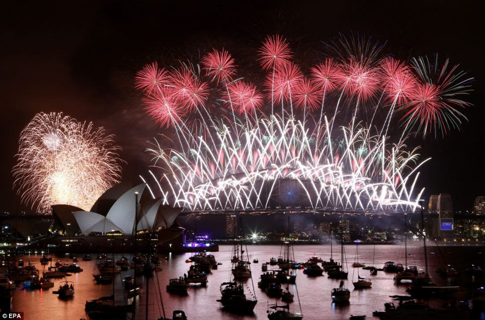 More than one million people packed the water and shoreline of Sydney's harbour to watch the annual fireworks spectacular