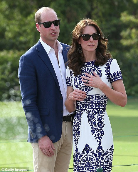 Staff said Kate 'became emotional' upon hearing the story behind the Taj Mahal