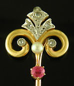 French Belle Epoque stickpin. (J9184)